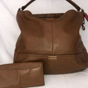 TAN Coach HOBO and wallet